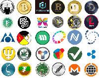 Multiple Crypto Logos 200