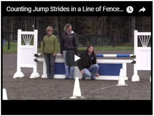 How to Walk a Line in a Jump Course to Figure Out Correct Striding