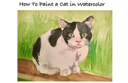 How to Paint a Cat in Watercolor in Easy Steps