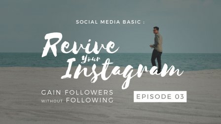 Social Media Basic : Revive Your Instagram - Gain Followers w/o Following