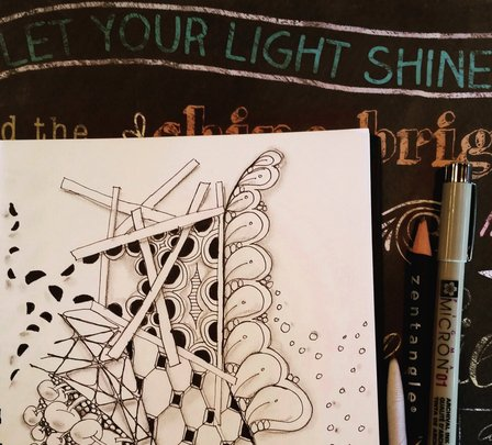 Drawing Patterns : Finding Zen in Zentangle Inspired Art