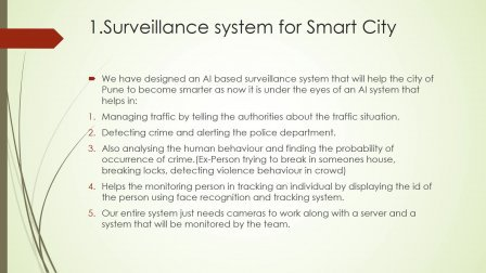 Artificial Intelligence Based Surveillance System